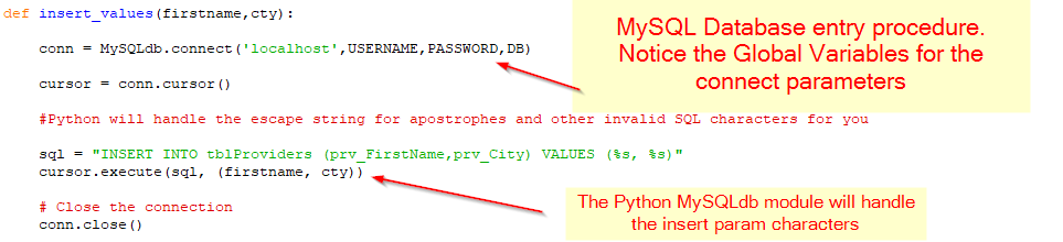 Use The Data Entry Form To Have Python Insert Data Into MySQL  